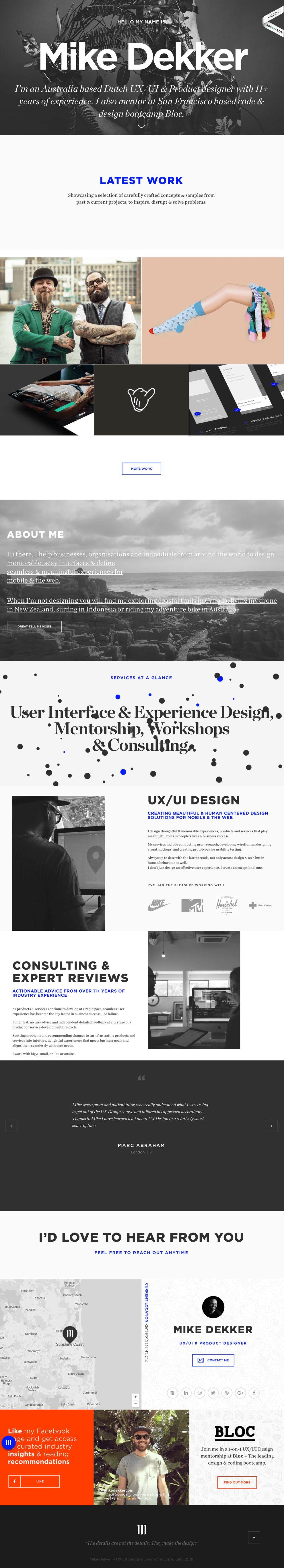 Mike Dekker Best Website Design Portfolio