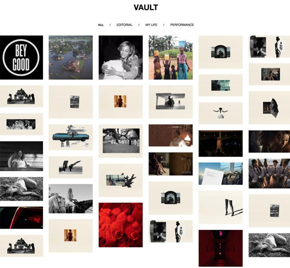 Beyoncé Great Website Design News Page