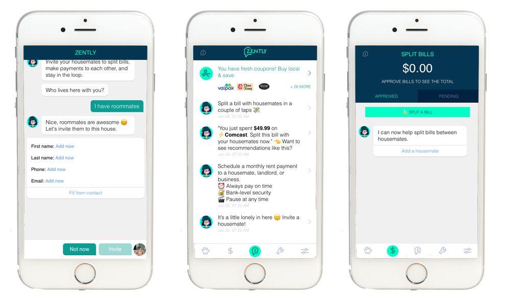 Zently Friendly App Design