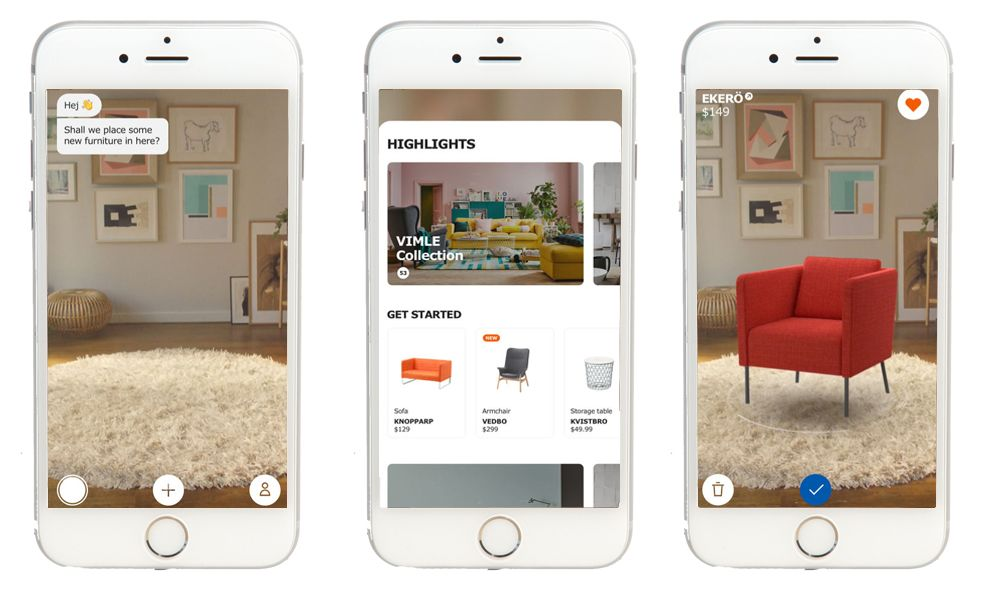 IKEA Place AR App Design