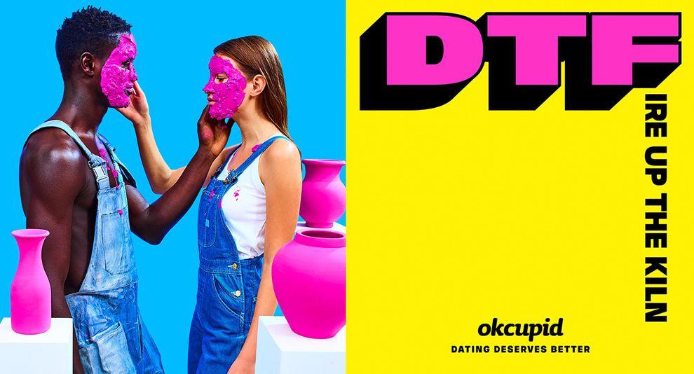 OkCupid Bright Print Design