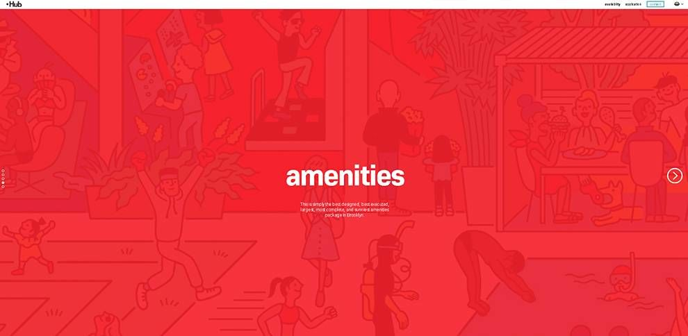 Hub Brooklyn Amenities Website Design