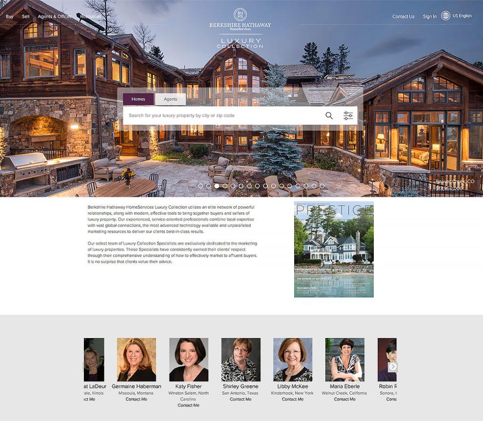 Berkshire Hathaway Home Services Real Estate Website Design
