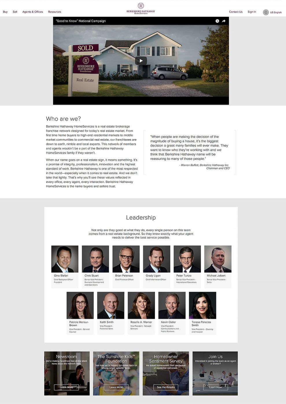 Berkshire Hathaway Home Services Professional Website About