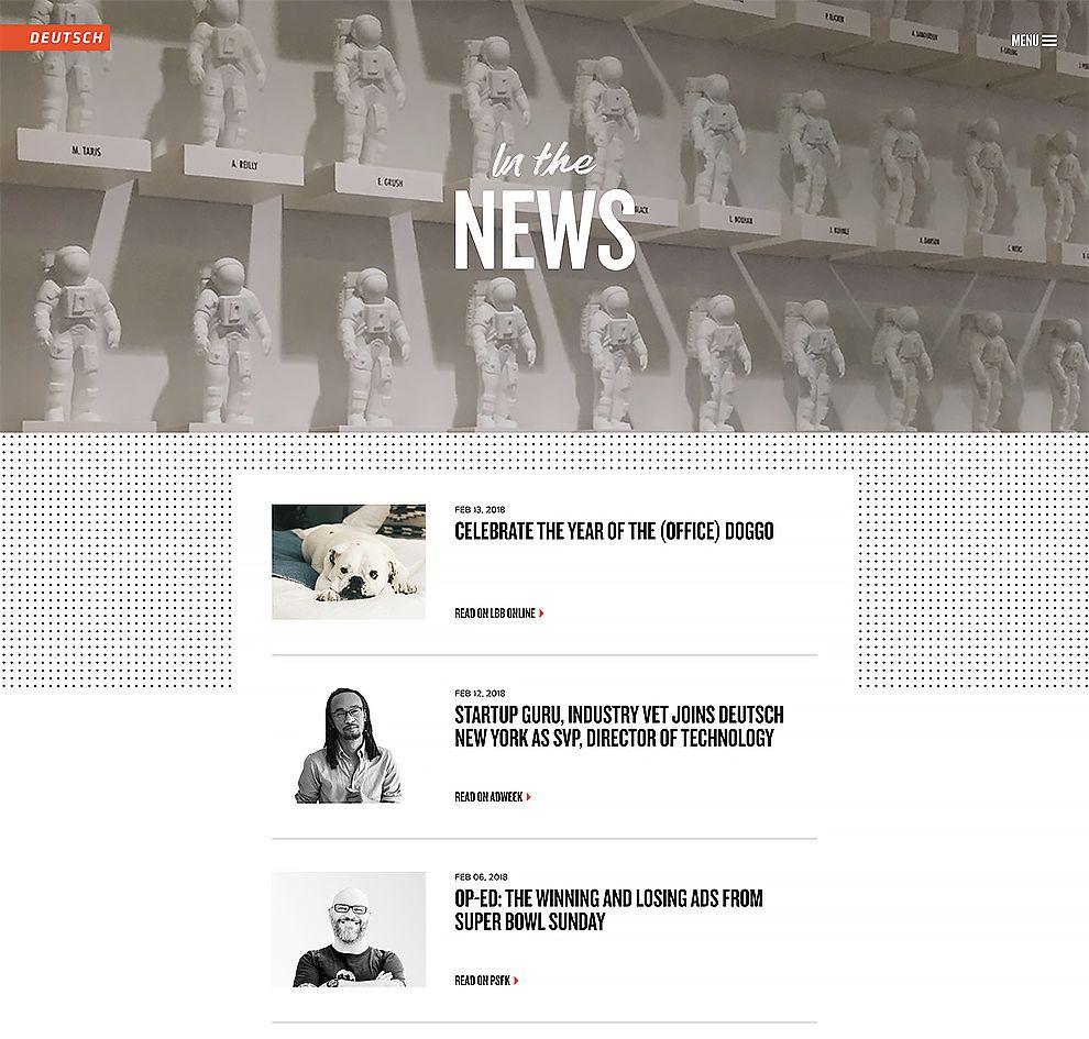 Deutsch Website Design News