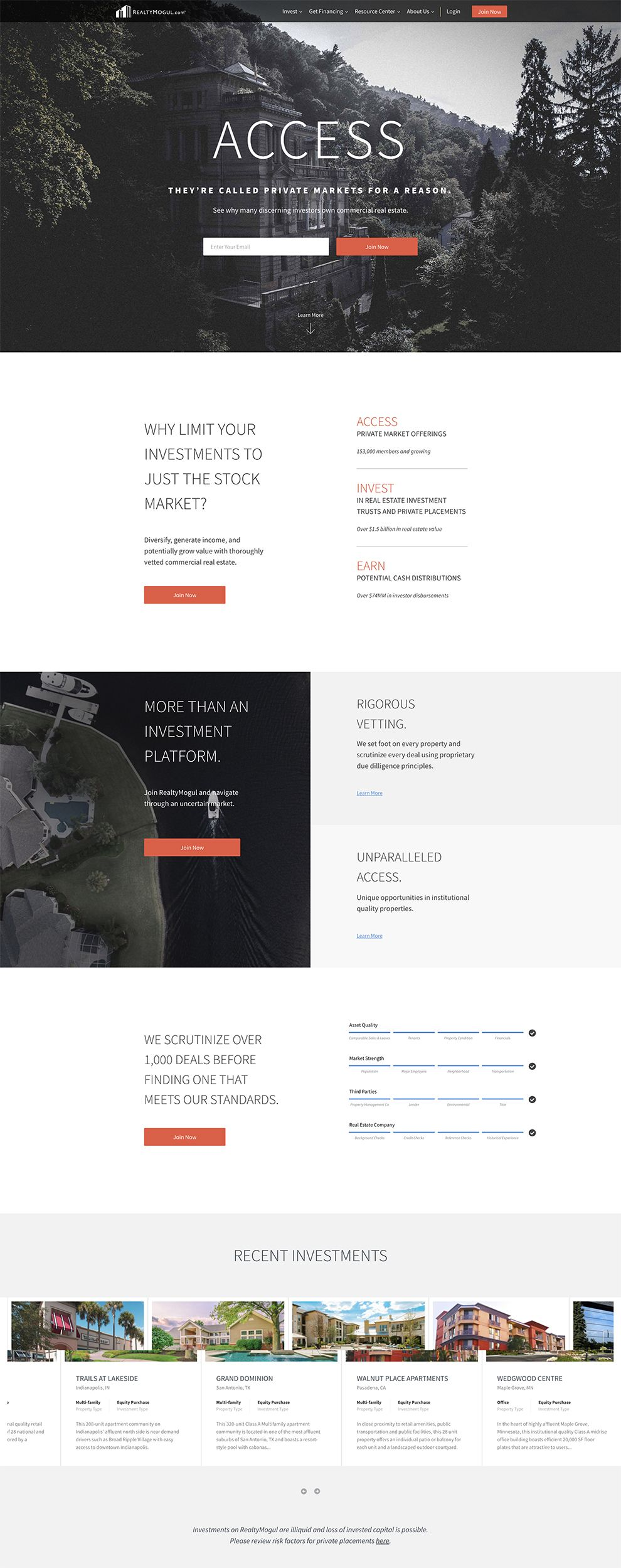 Realty Mogul Clean Web Design
