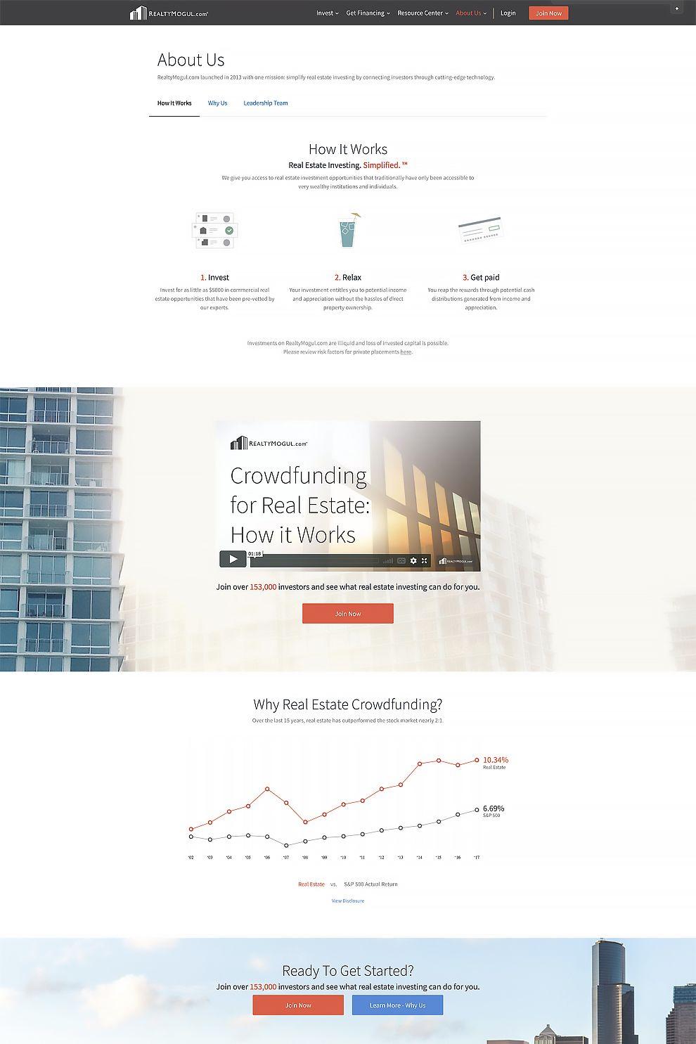 Realty Mogul Professional Website
