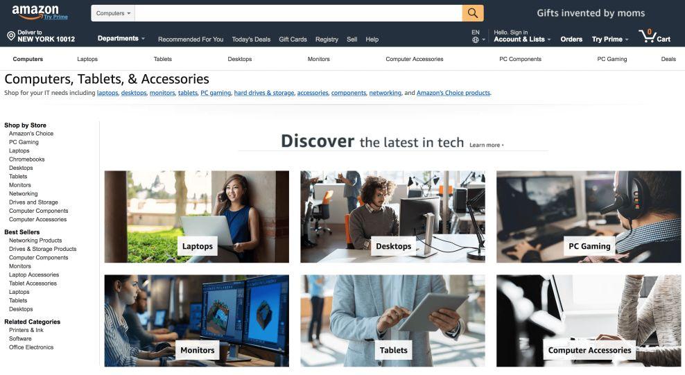 Amazon Top Website Design