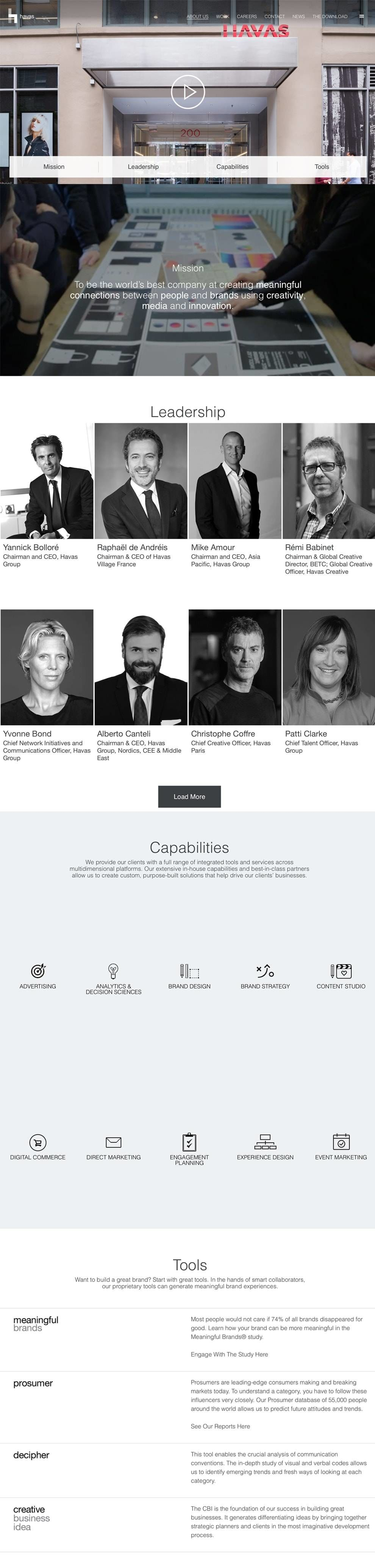 Havas Website Design About