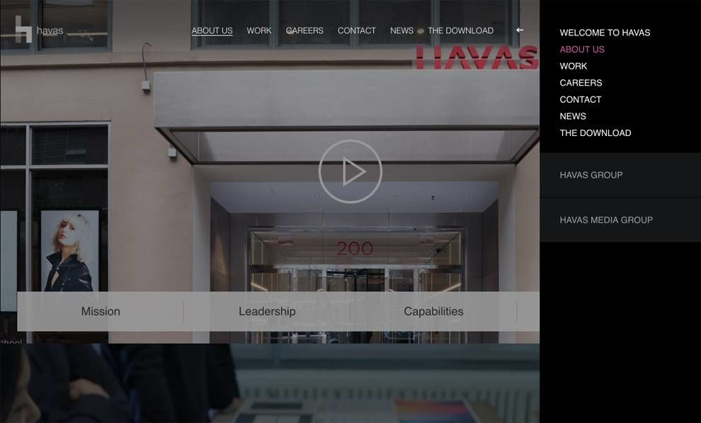 Havas Amazing Website Design