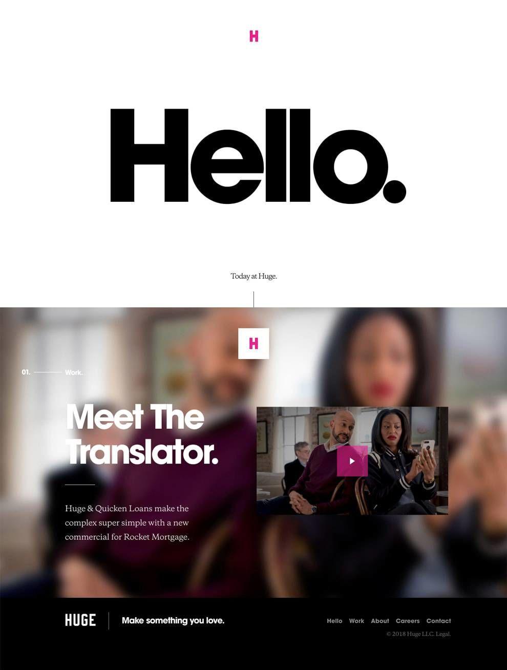 Huge Inc Web Design Homepage