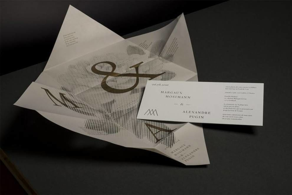 M&A Wedding Invitation Print Design