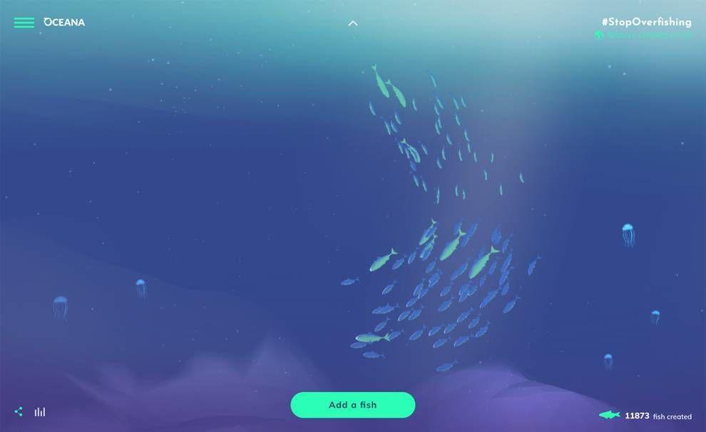 Oceana's Stop Overfishing Web Design