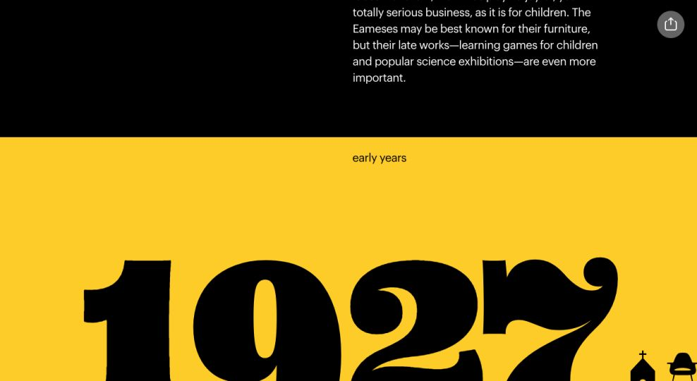 The Eames by Enso Website Design Scrolling