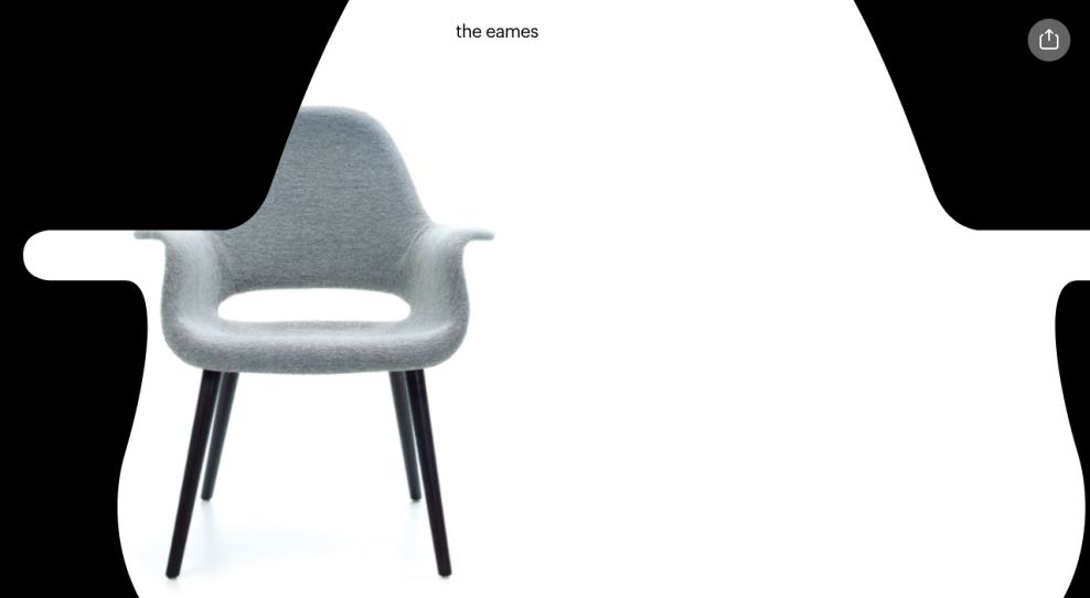 The Eames by Enso Website Design Mask Header