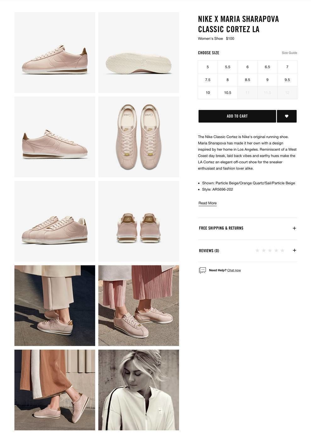 Nike Web Design Product Images
