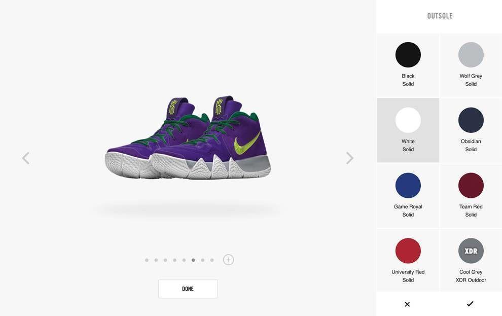 Nike Website Shoe Customizer