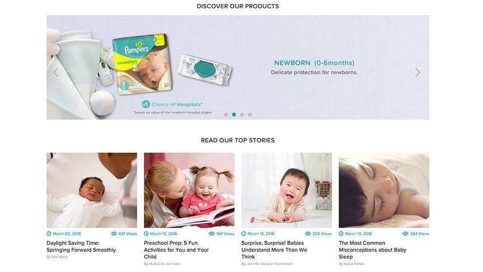 Pampers User-Friendly Website Design