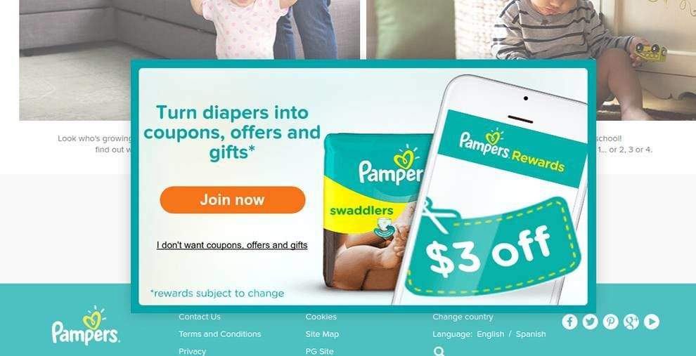 Pampers Web Design Typography