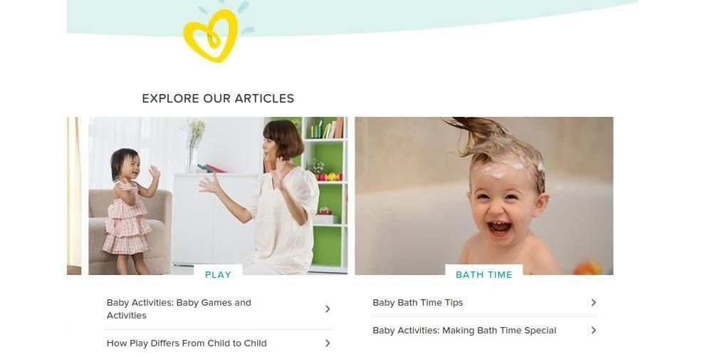 Pampers Website Design Baby Images