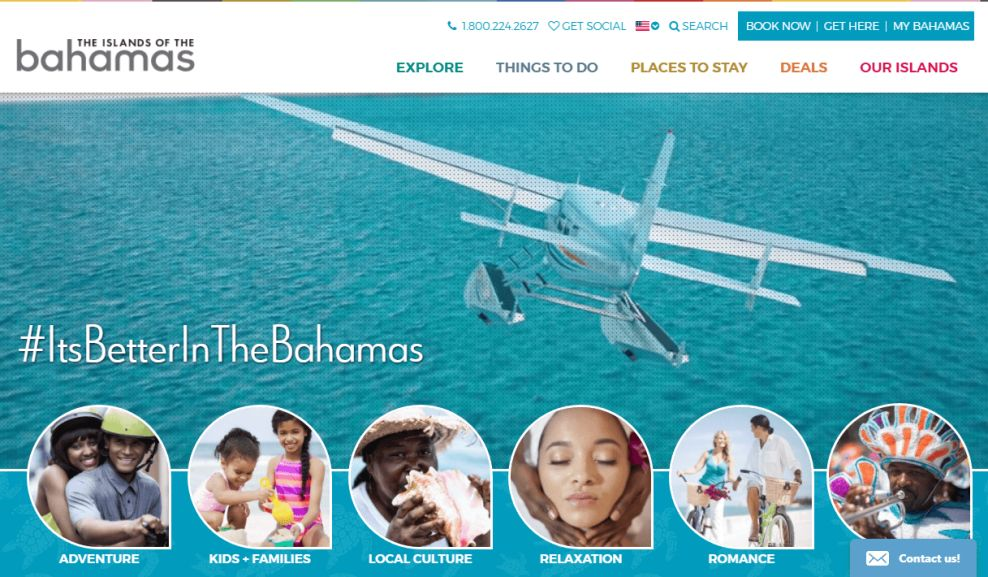 Bahamas Website Design Homepage