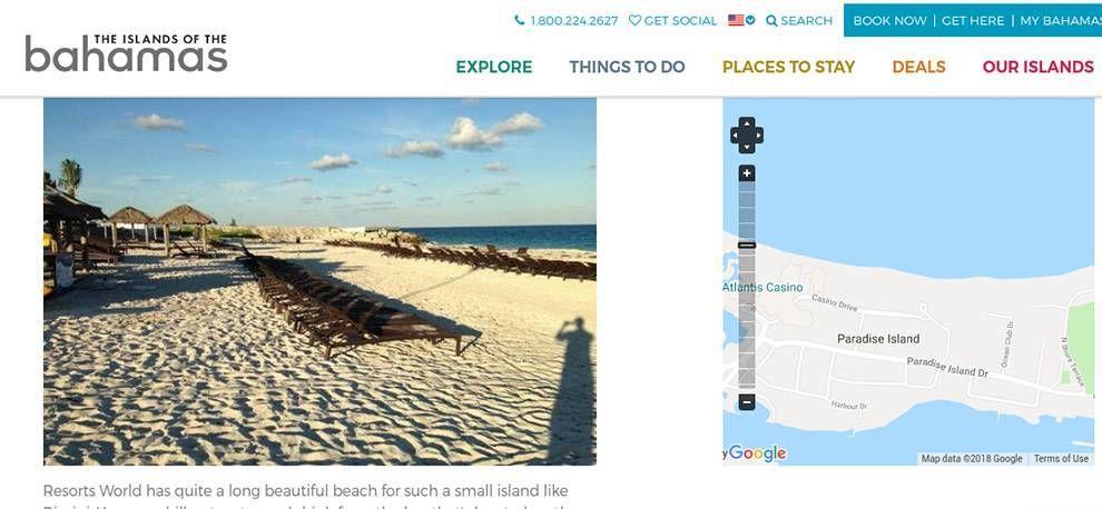 Bahamas Great Website Design