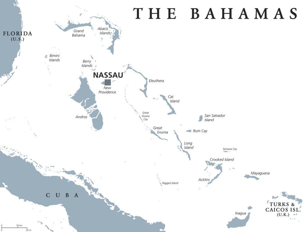 The Bahamas Island Map