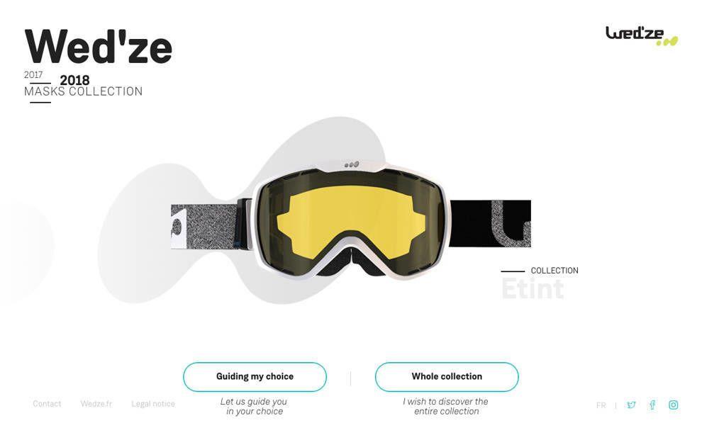 Wed'ze Website Design Homepage
