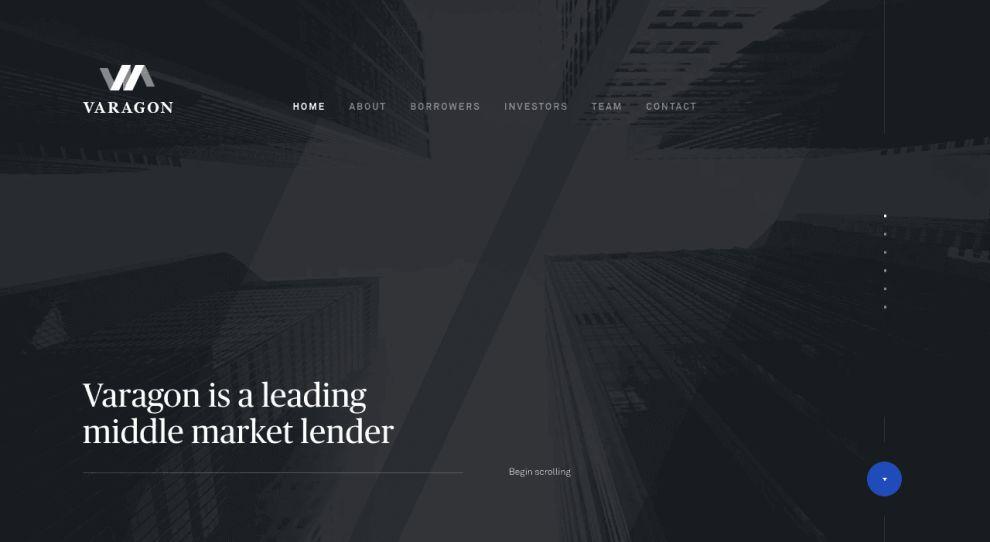 Varagon Website Design Homepage UX