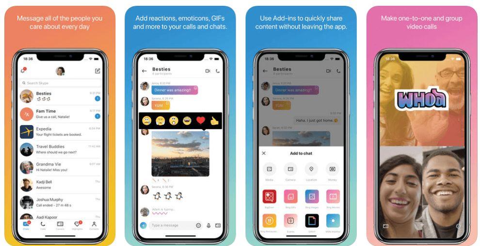 Skype Mobile App Apple iOS