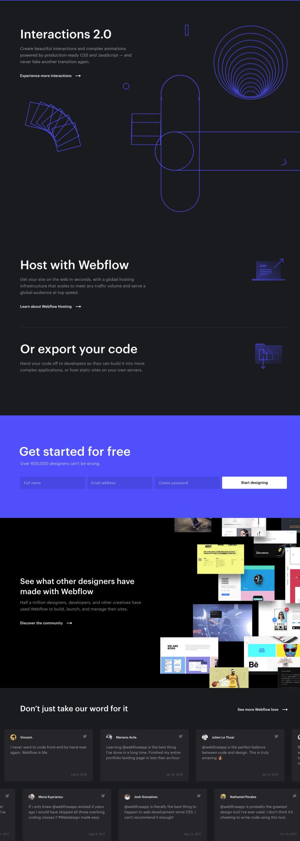 Webflow Animated Website Design