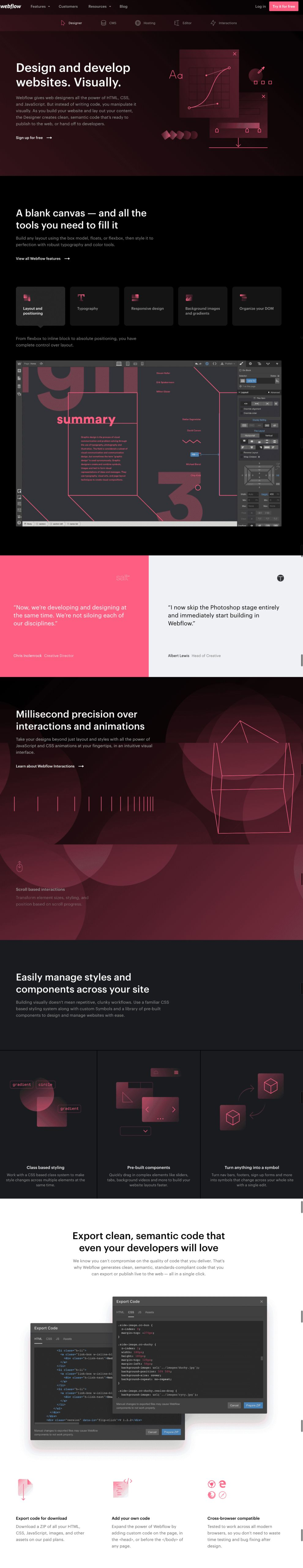 Webflow Top Website Design Product Page
