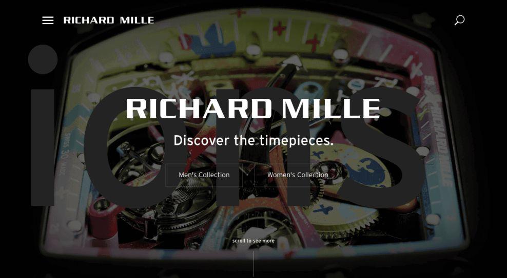 Richard Mille Luxury Website Design
