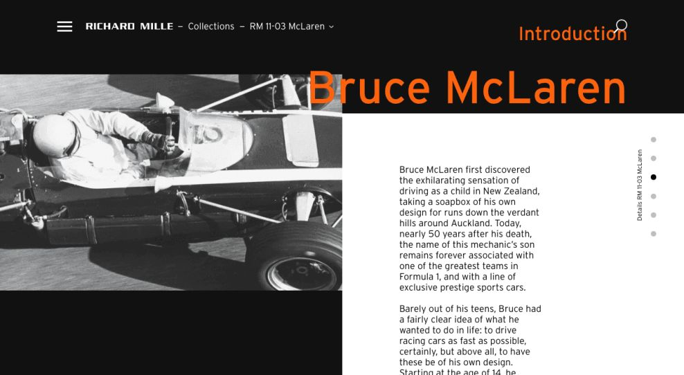 Richard Mille Website Product About