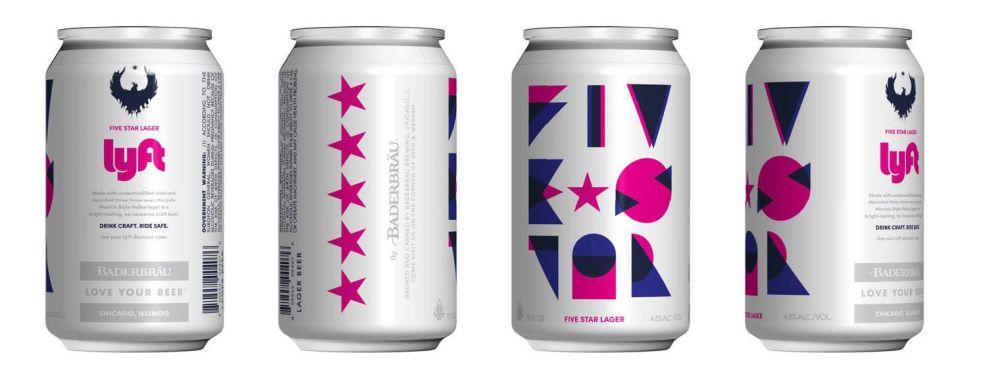 Five Star Logo & Lyft Beer