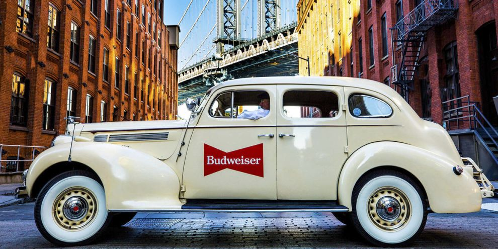 Budweiser Vintage Car