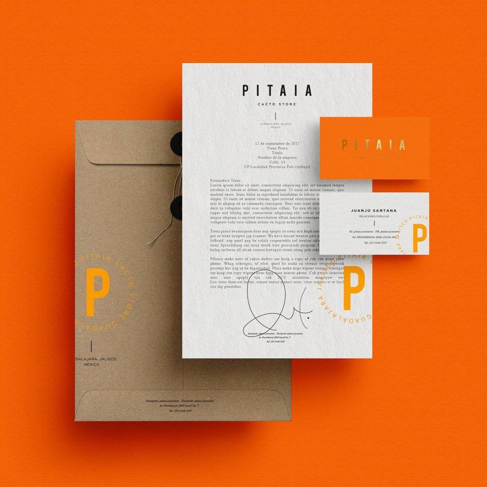 Pitaia Print Design Letter
