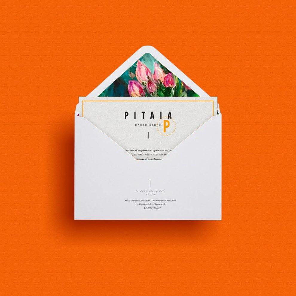 Pitaia Print Design Invitation
