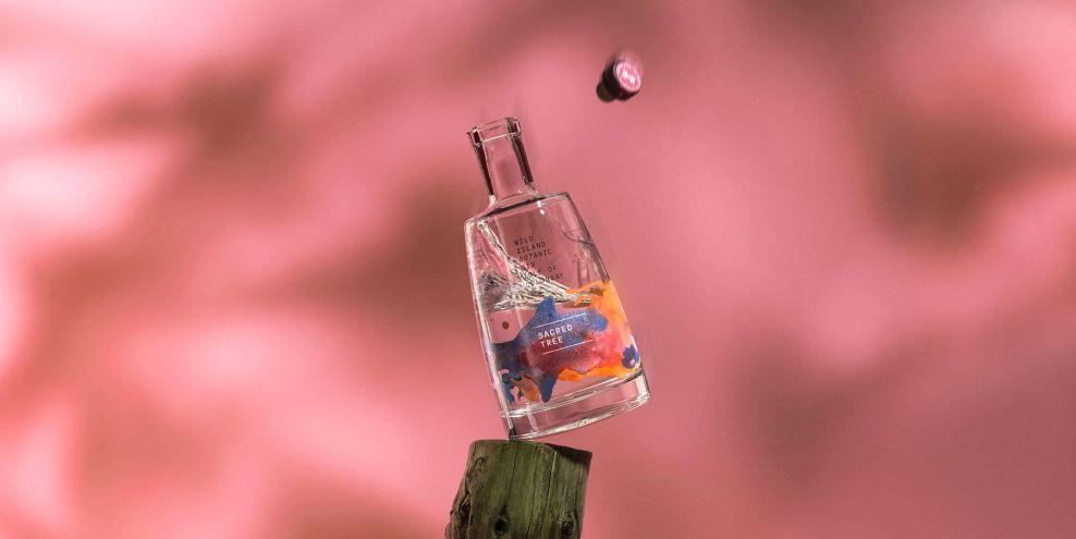 Wild Island Gin Package Design Open Bottle