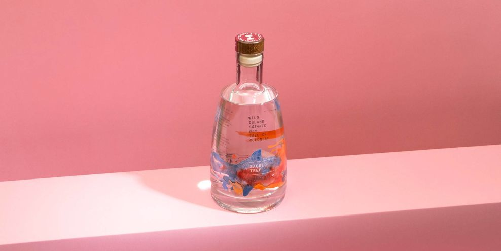 Wild Island Gin Package Design Bottle