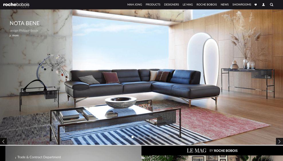 Roche Bobois Homepage Website Design