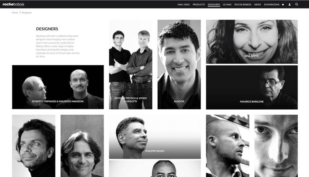 Roche Bobois Designers Website Design