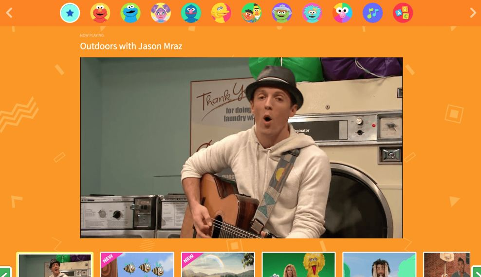 Sesame Street Video Website Design