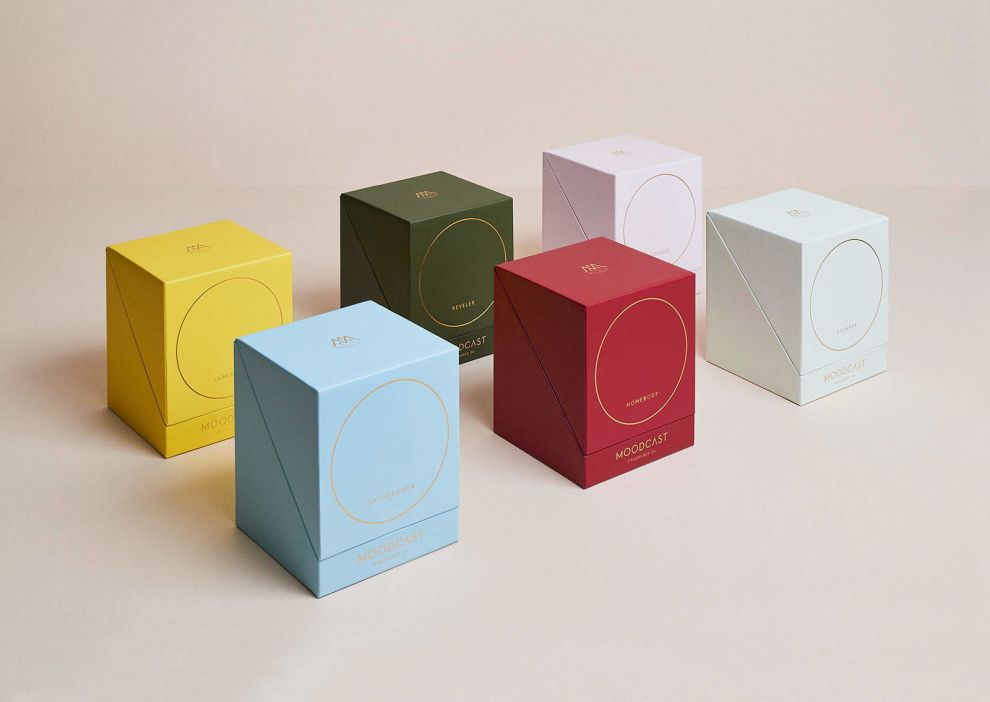 Moodcast Candle Box Package Design