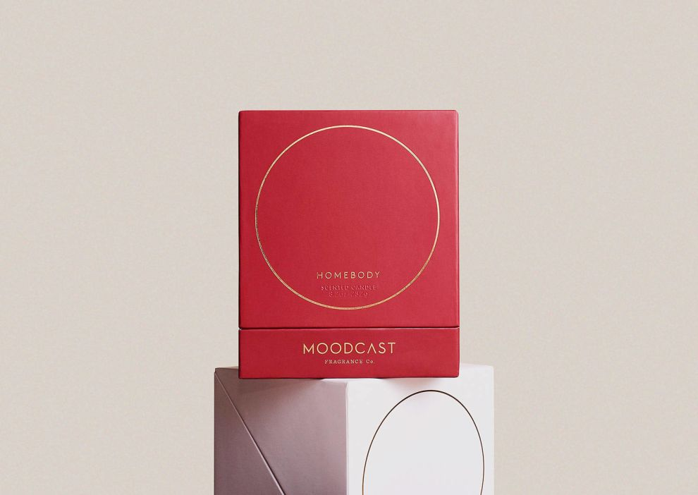Moodcast Candle Glass Package Design