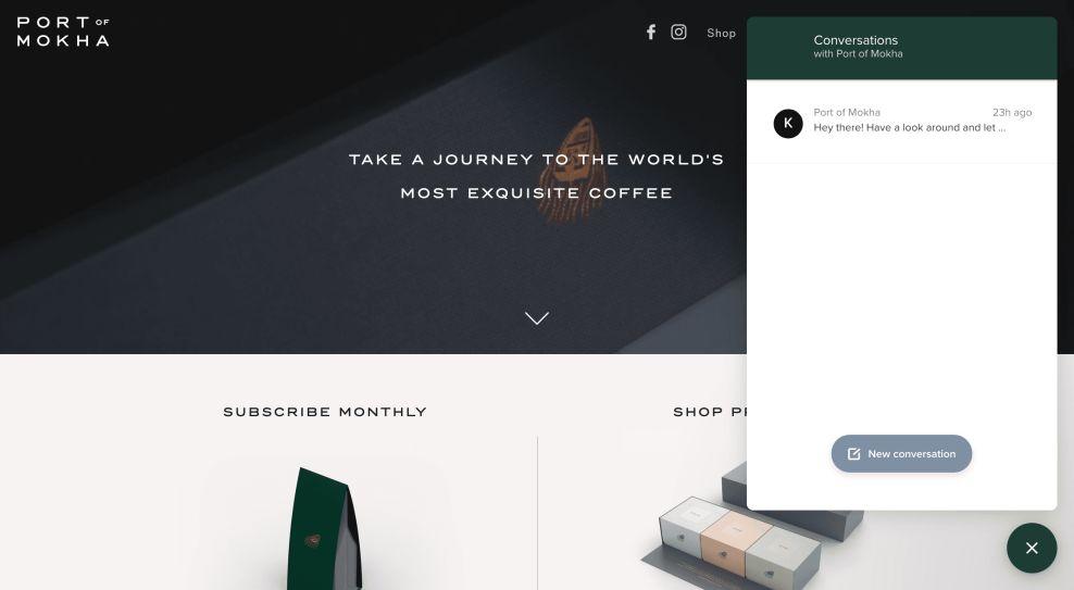 Port of Mokha Web Design Chatbot