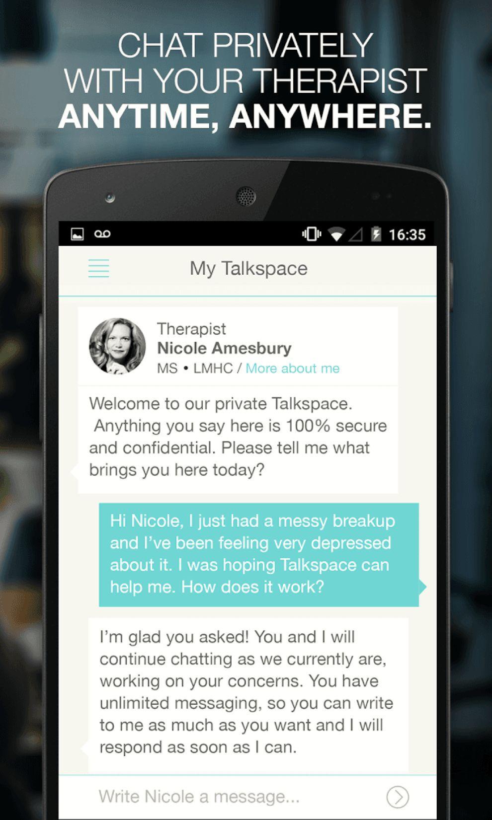 Talkspace Chat App Design