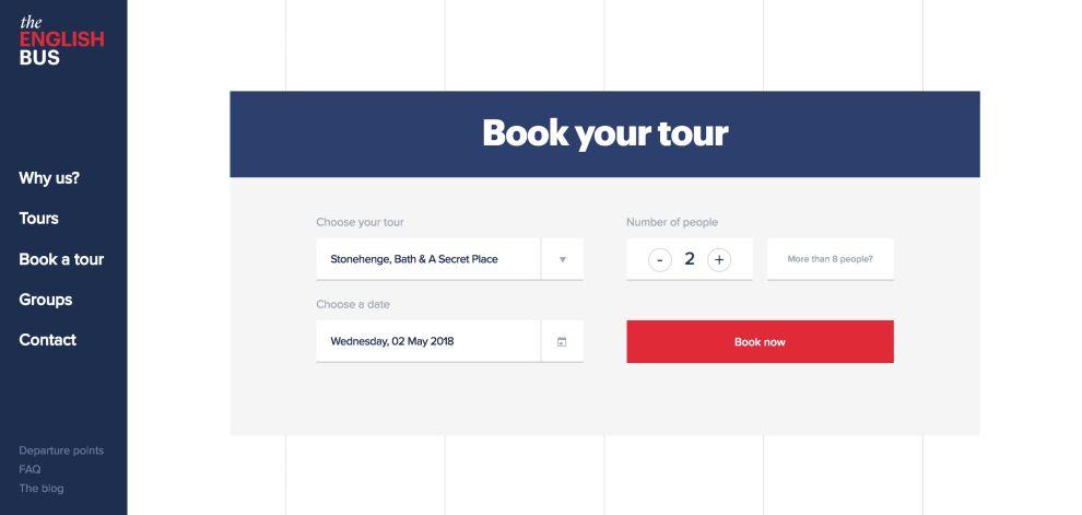 The English Bus CTA Website Design