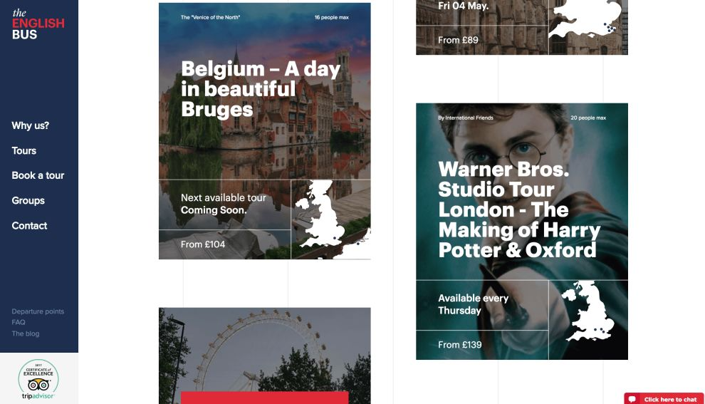 The English Bus Tours Website Design
