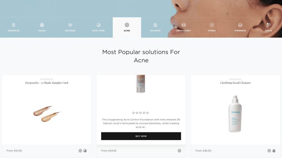 ShopSkin Products Website Design